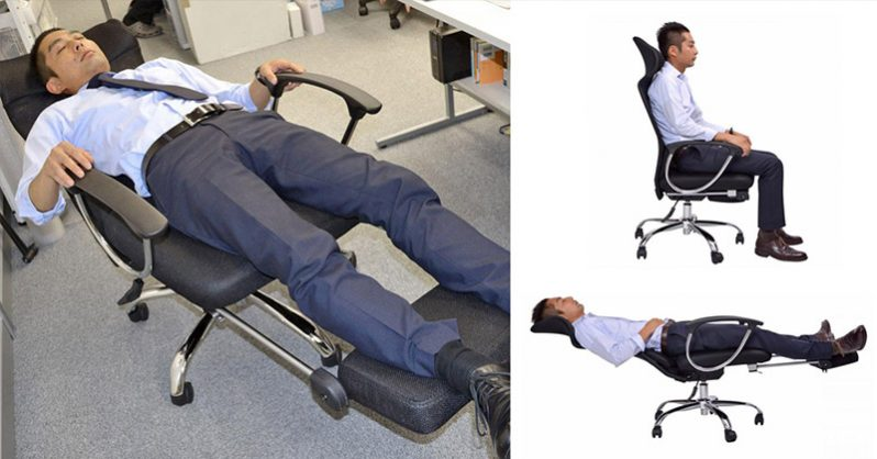 This Office Chair Lets You Lie Down Flat For Naps At The ...